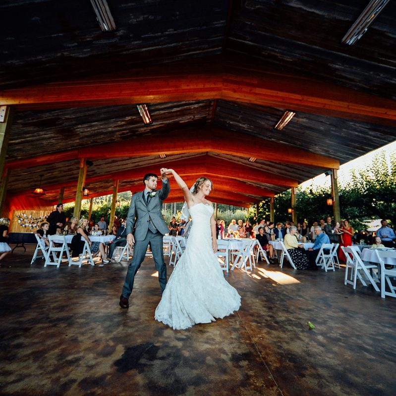 Outdoor covered wedding pavillion