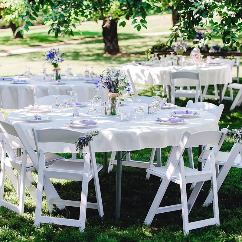 South Sound Wedding venue with tables and chairs included